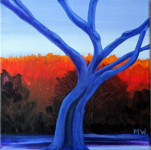 #35- Dawn through the tree