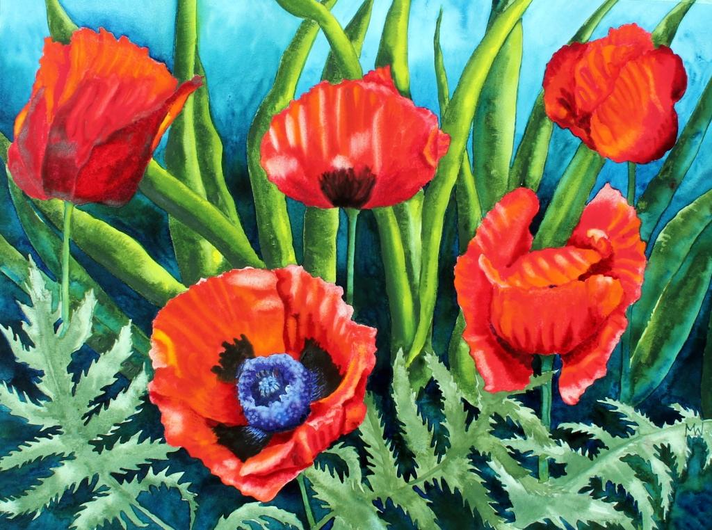 #157 - IN MY GARDEN -Poppies