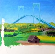 #163 - NEWPORT BRIDGE GETTING CLOSER (2)
