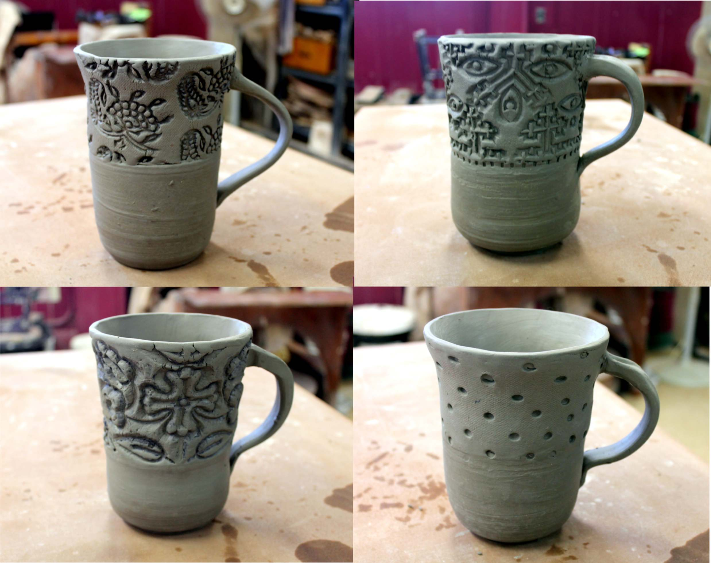 Day 337 pottery show and tell be creative mary for Pottery cup ideas