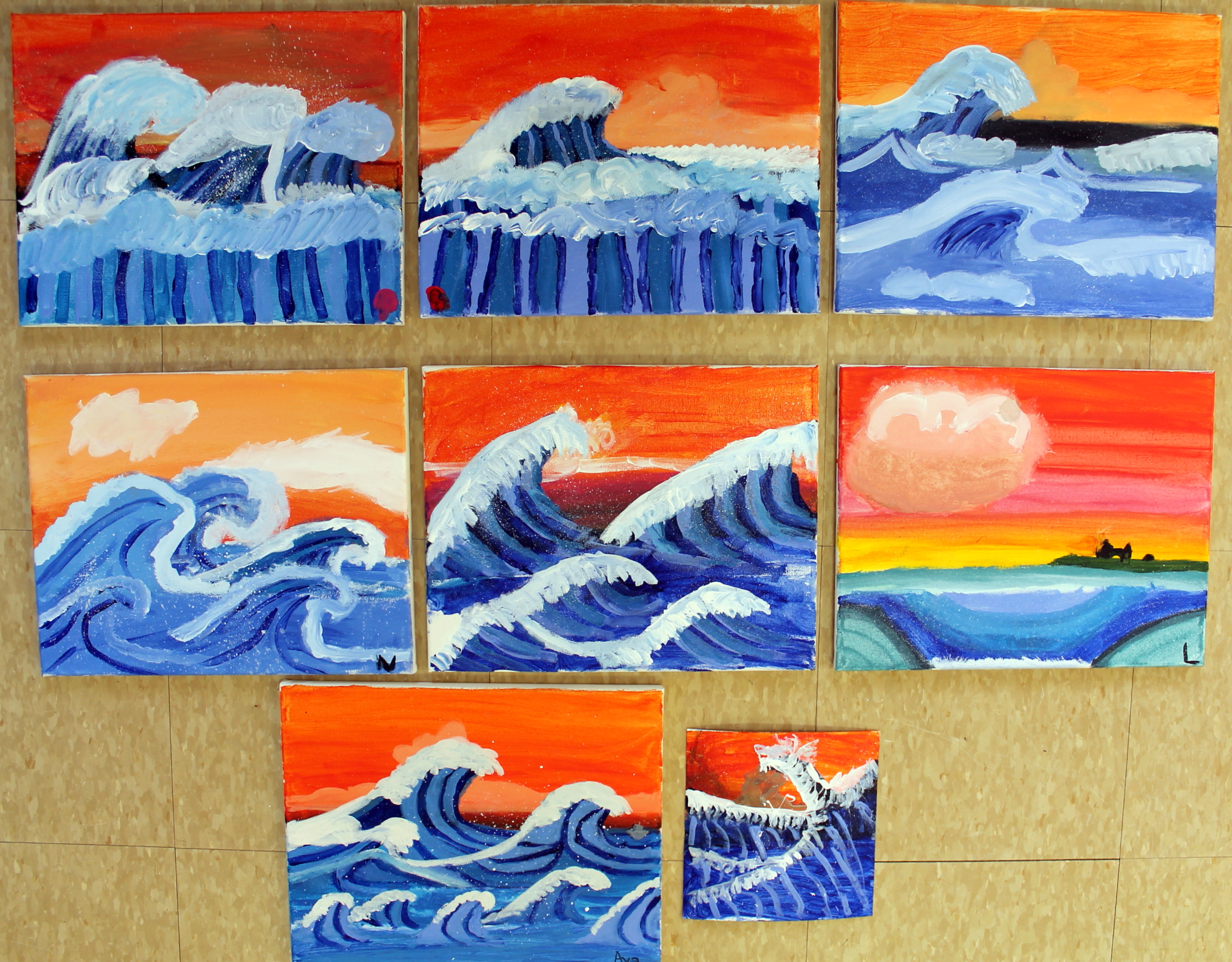 Making waves be creative mary for Craft classes for toddlers