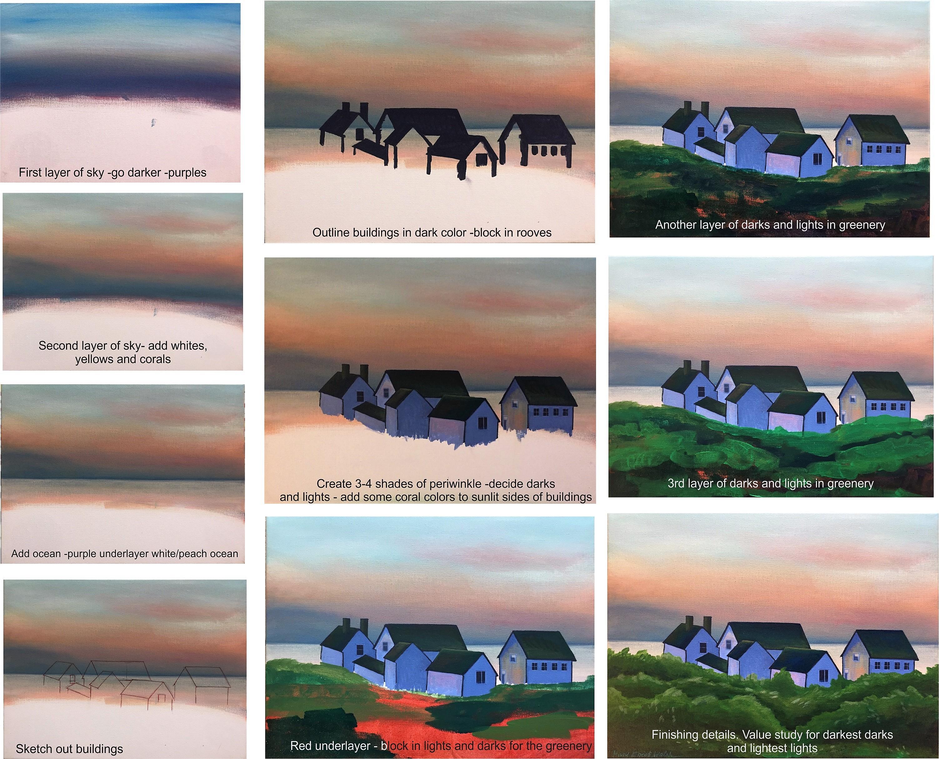 __acrylic houses 12